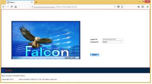 webFalcon-loginPage